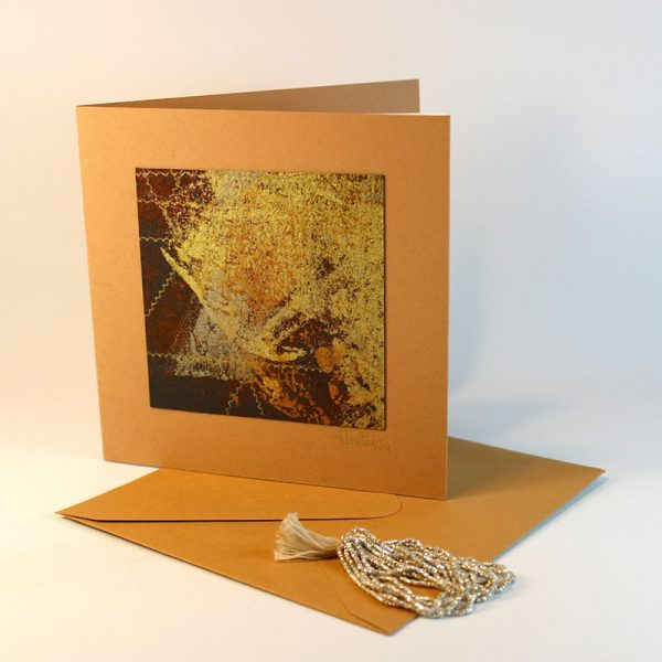 """Carterie d'Art - Carte artistique collection """"La face cachée"""" n°39 - Format 13,5 x 13,5 en vente sur la boutique de Carrés Nomades"""