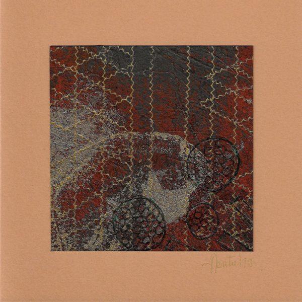 """Carterie d'Art - Carte artistique collection """"La face cachée"""" n°40 - Format 13,5 x 13,5 en vente sur la boutique de Carrés Nomades"""