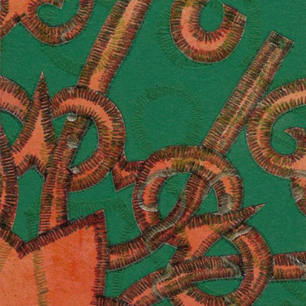 """Carterie d'Art - Carte artistique collection """"La face cachée"""" n°41 - Format 13,5 x 13,5 en vente sur la boutique de Carrés Nomades"""
