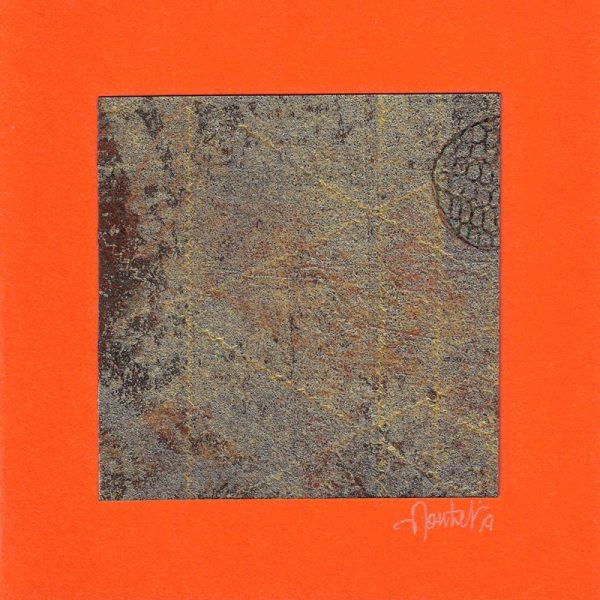 """Carterie d'Art - Carte artistique collection """"La face cachée"""" n°43 - Format 13,5 x 13,5 en vente sur la boutique de Carrés Nomades"""