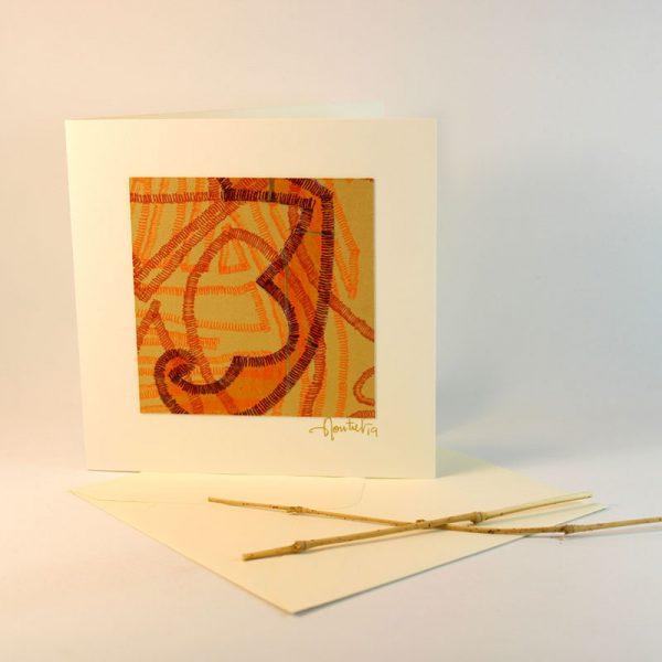 """Carterie d'Art - Carte artistique collection """"La face cachée"""" n°45 - Format 13,5 x 13,5 en vente sur la boutique de Carrés Nomades"""