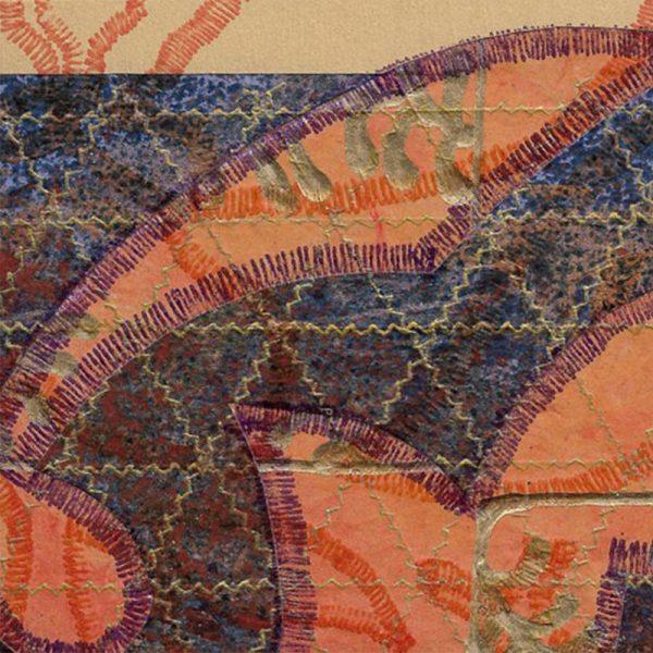 """Carterie d'Art - Carte artistique collection """"La face cachée"""" n°47 - Format 13,5 x 13,5 en vente sur la boutique de Carrés Nomades"""