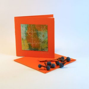 """Carterie d'Art - Carte artistique collection """"La face cachée"""" n°5 - Format 7,5 x 7,5 en vente sur la boutique de Carrés Nomades"""
