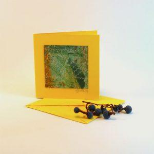 """Carterie d'Art - Carte artistique collection """"La face cachée"""" n°6 - Format 7,5 x 7,5 en vente sur la boutique de Carrés Nomades"""