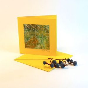 """Carterie d'Art - Carte artistique collection """"La face cachée"""" n°7 - Format 7,5 x 7,5 en vente sur la boutique de Carrés Nomades"""