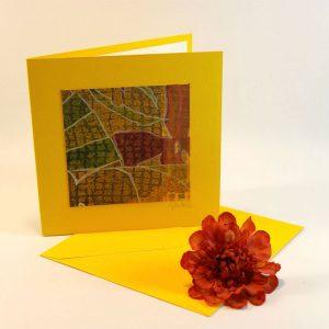 """Carterie d'Art - Carte artistique collection """"Floralies"""" n°10 - Format 13,5 x 13,5 en vente sur la boutique de Carrés Nomades"""