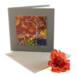 """Carterie d'Art - Carte artistique collection """"Floralies"""" n°11 - Format 13,5 x 13,5 en vente sur la boutique de Carrés Nomades"""