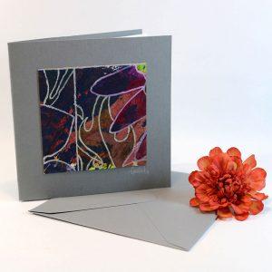 """Carterie d'Art - Carte artistique collection """"Floralies"""" n°12 - Format 13,5 x 13,5 en vente sur la boutique de Carrés Nomades"""