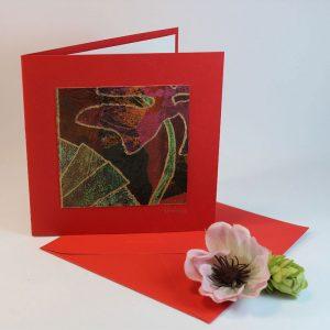 """Carterie d'Art - Carte artistique collection """"Floralies"""" n°5 - Format 13,5 x 13,5 en vente sur la boutique de Carrés Nomades"""
