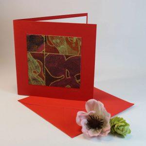 """Carterie d'Art - Carte artistique collection """"Floralies"""" n°6 - Format 13,5 x 13,5 en vente sur la boutique de Carrés Nomades"""