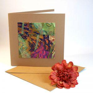 """Carterie d'Art - Carte artistique collection """"Floralies"""" n°8 - Format 13,5 x 13,5 en vente sur la boutique de Carrés Nomades"""