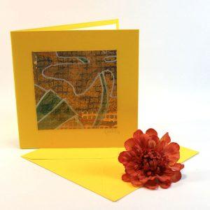 """Carterie d'Art - Carte artistique collection """"Floralies"""" n°9 - Format 13,5 x 13,5 en vente sur la boutique de Carrés Nomades"""